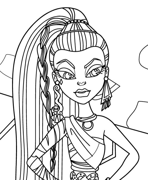 monster high of nefera de nile coloring page monster