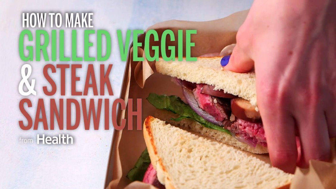 How to make a veggie and steak sandwich thats less than