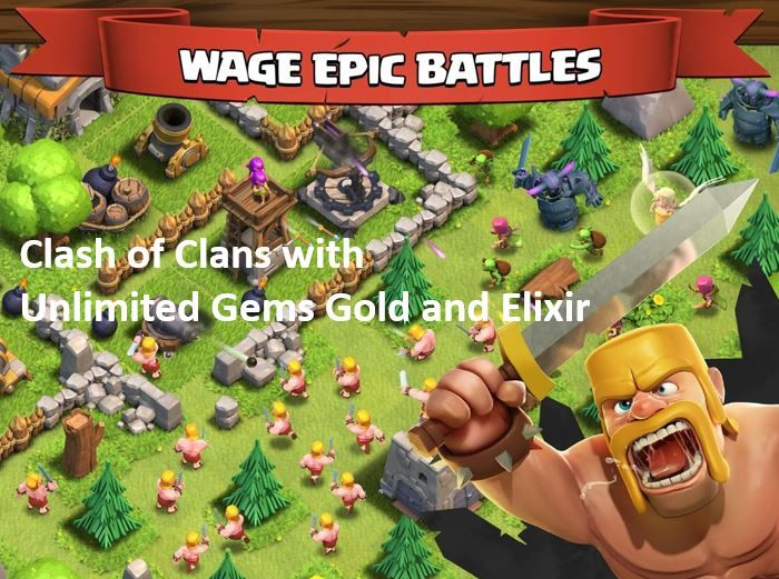 Clash of Clans v6 322 3 Mod Apk with Unlimited Gems Gold and Elixir