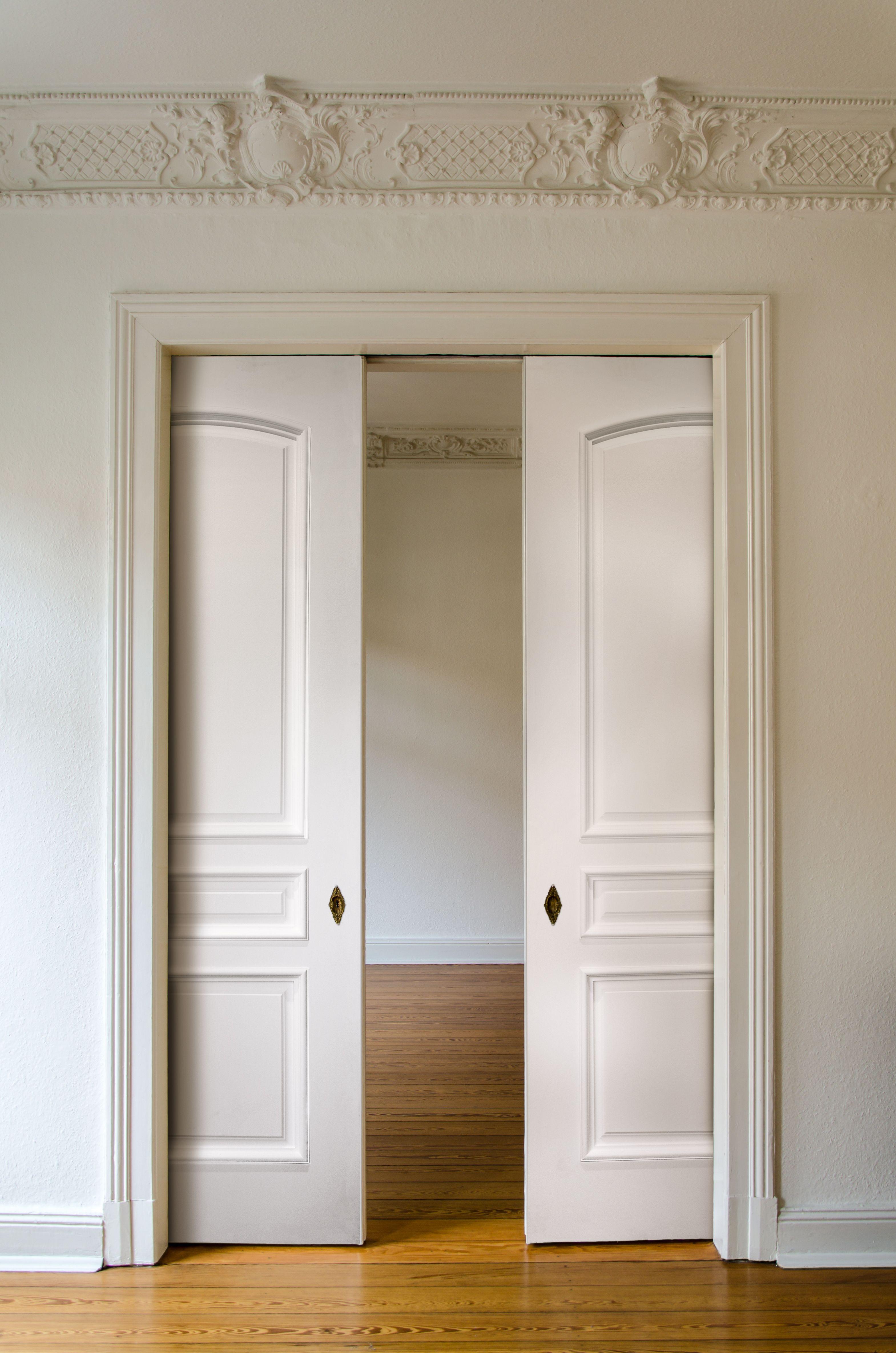 Master bedroom door design  Raised Panel Moulding Pocket Door TL  주택  Pinterest  Pocket