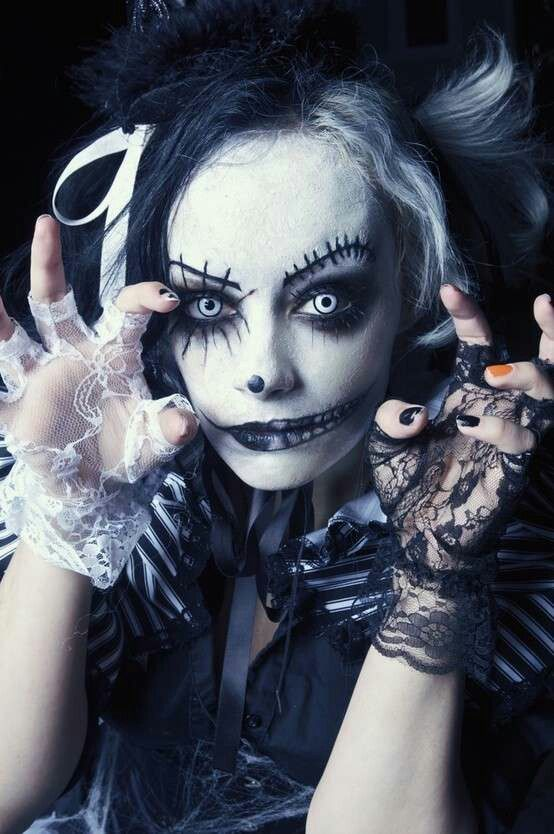 Pin by Amethyst Pansky on halloween Pinterest - cool makeup ideas for halloween