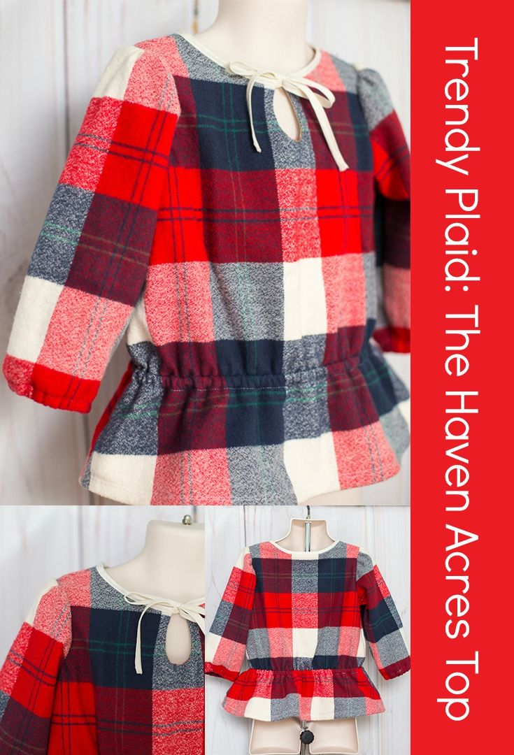 Haven Acres Top Sewing Pattern from Jennuine Design at the UpCraft Club.  Sewn by Coral and Co.