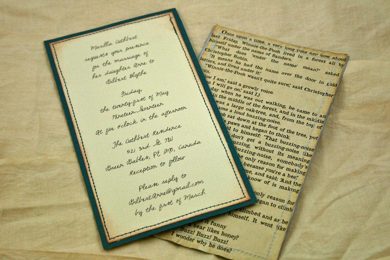 Romeo And Juliet Wedding Invitations: Vintage Wedding Invitations, Book Page, Custom Printing
