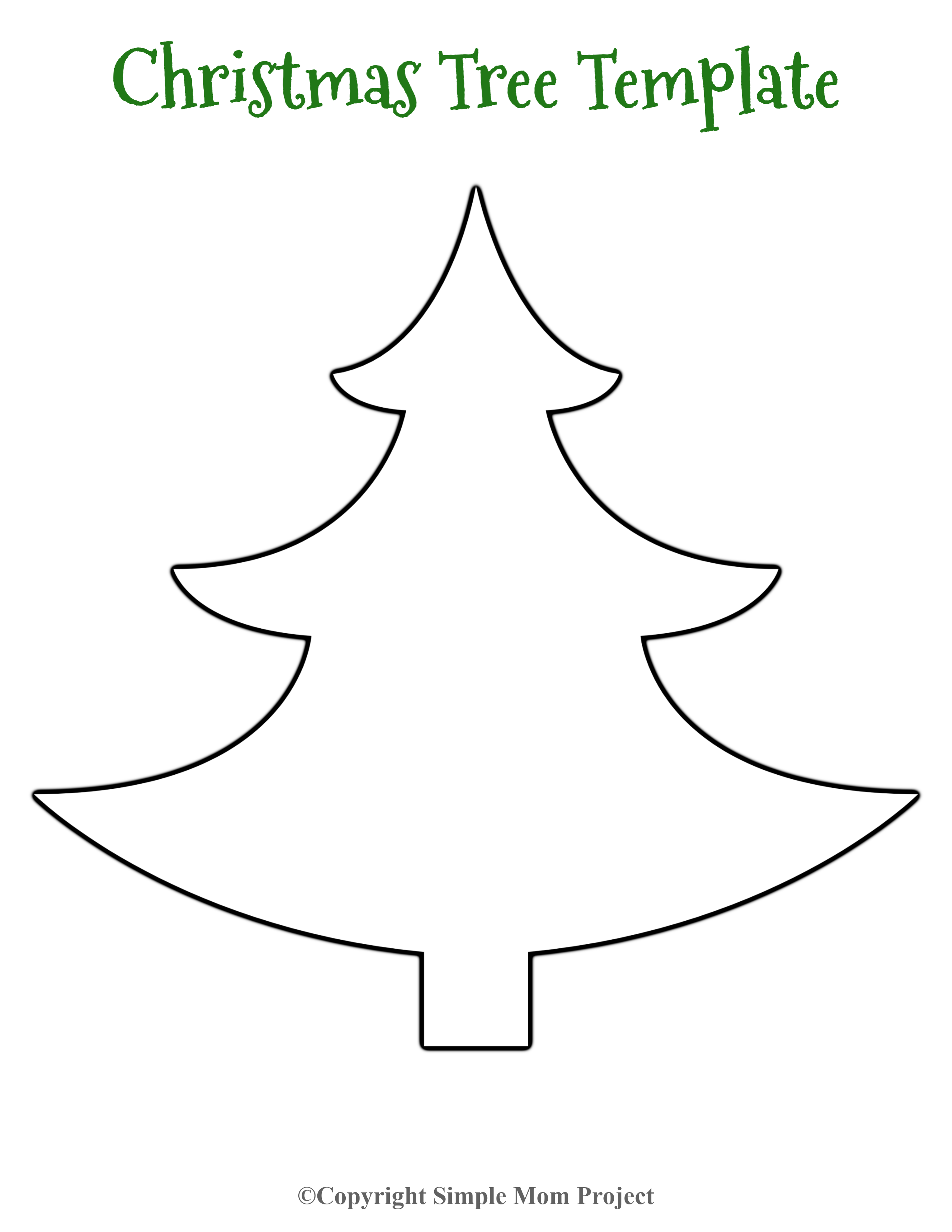 Free Printable Small Snowflake Templates Christmas Tree Template Tree Templates Christmas Tree Outline