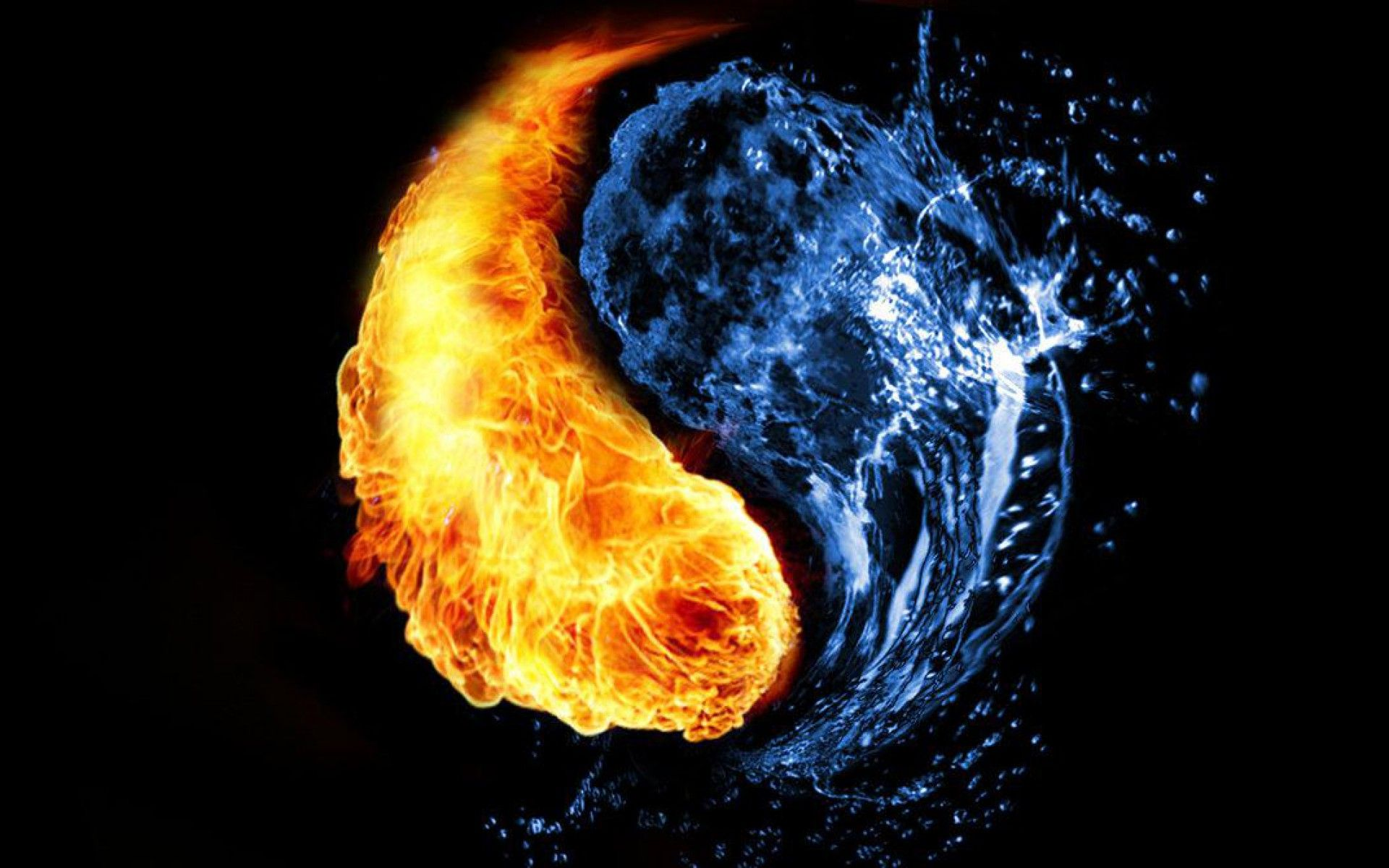 New Year New Beginnings Yin Yang Yin Wallpaper Backgrounds 1080p fire and water wallpaper hd