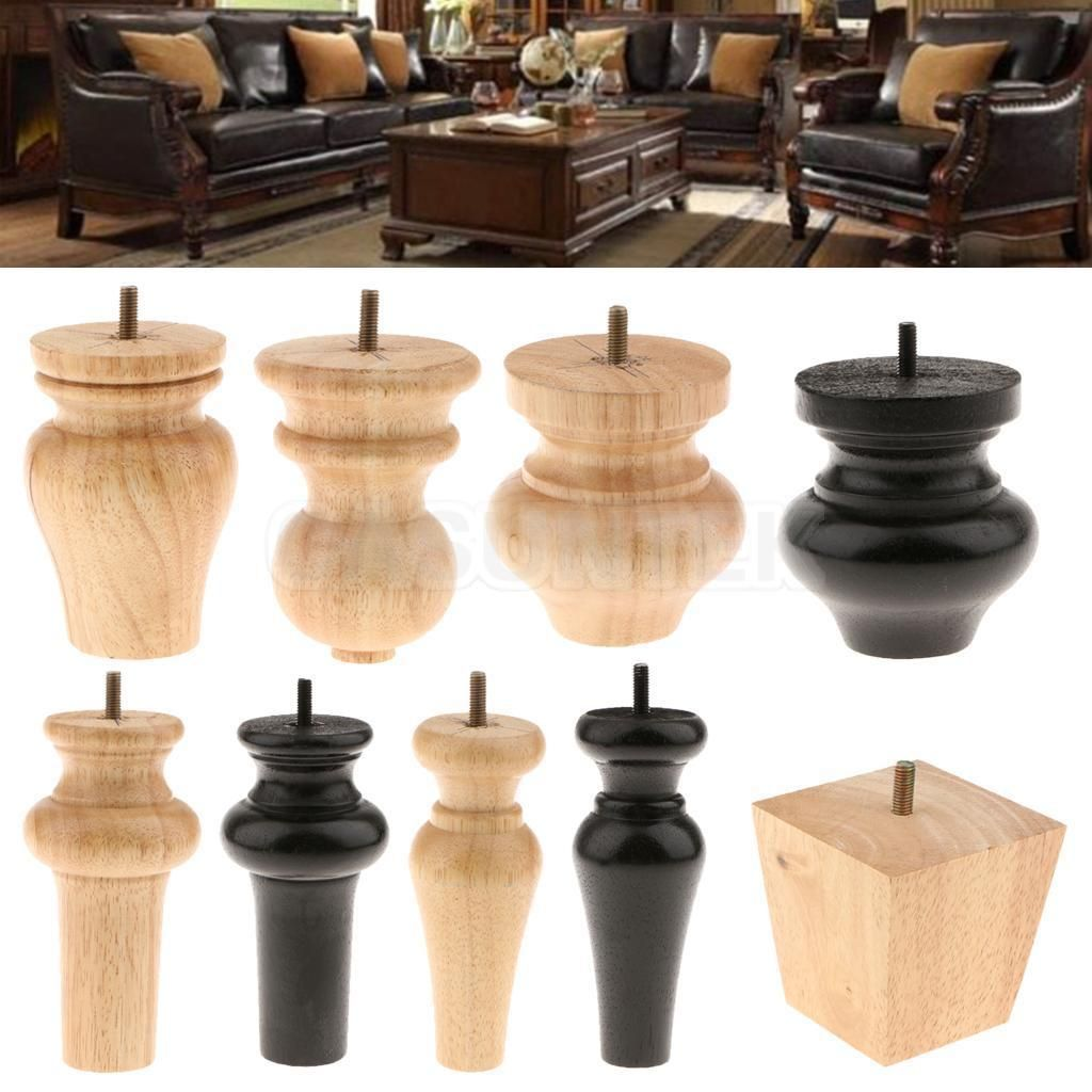 Wooden Replacement Furniture Legs Stand Feet For Sofa Chair Settee Table Desk Wood Furniture Legs Furniture Legs Replacement Furniture Legs