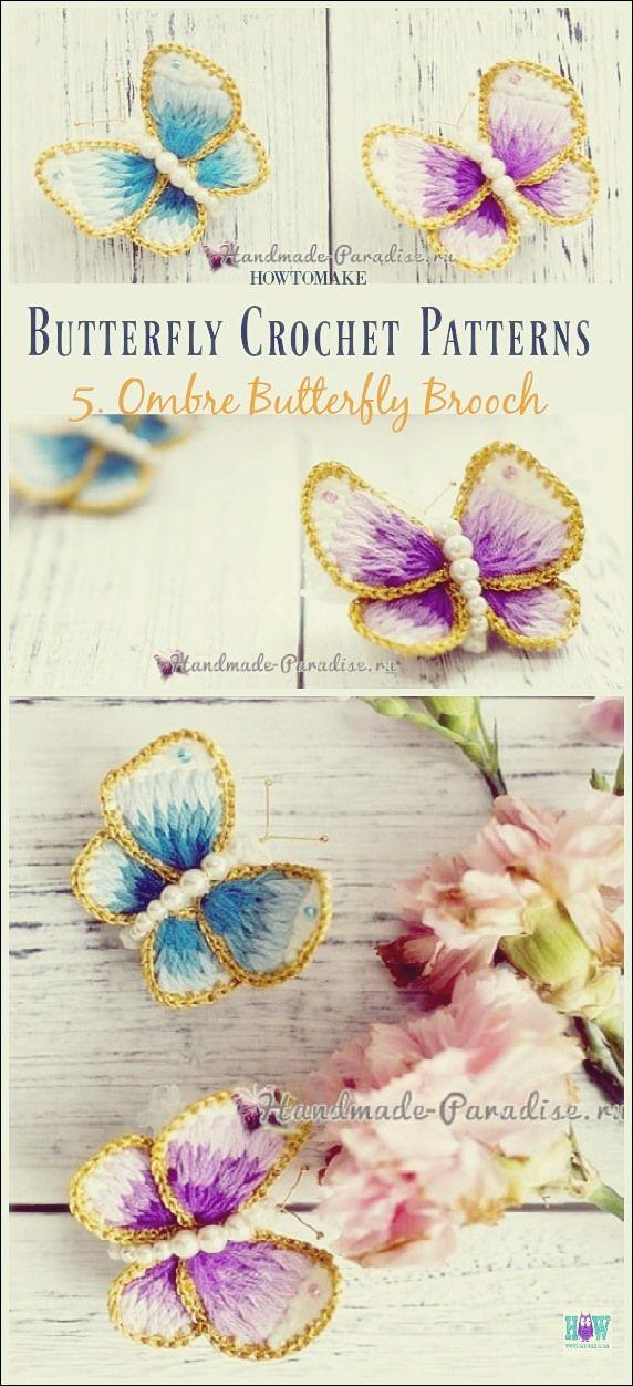 Patron de crochet papillon gratuit   Modèles gratuits   – Häkeln