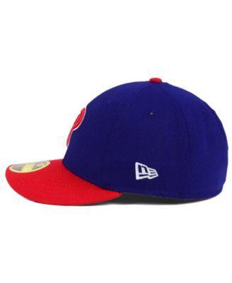 finest selection f36a5 4822a New Era Philadelphia Phillies Low Profile Ac Performance 59FIFTY Cap - Blue  7 1 8