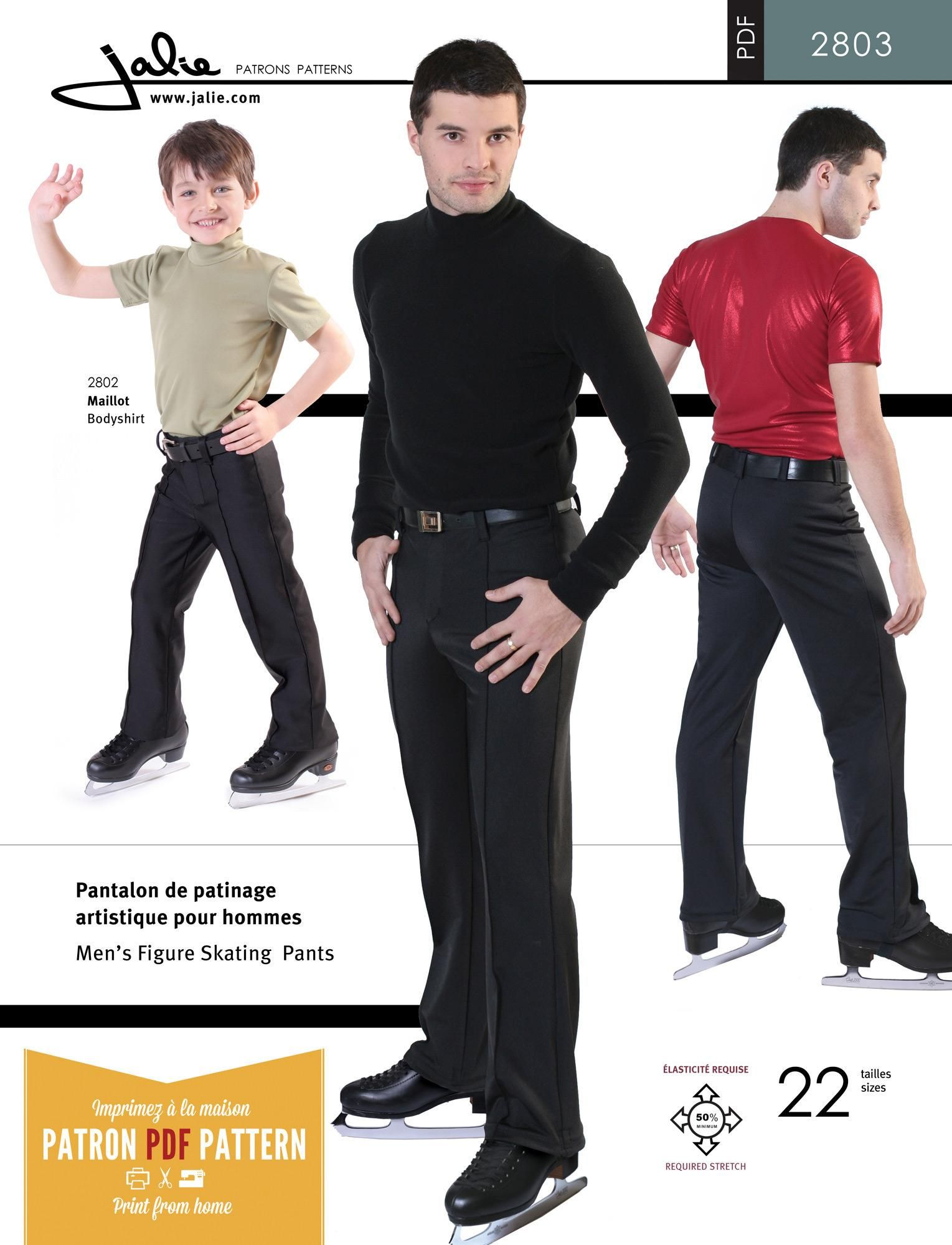 Jalie 2803 - Stretch Skating Pants PDF Pattern | merriam | Pinterest