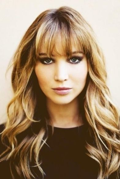 15 Gorgeous Hairstyles With Front Bangs Hair Styles Hair Long Hair Styles