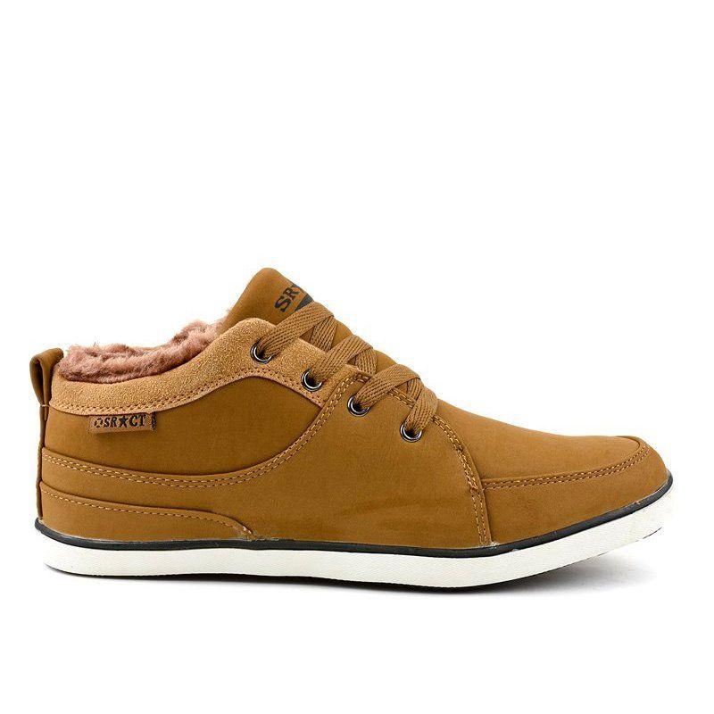 Brazowe Ocieplane Meskie Trampki 14m476 Sneakers Men Sneakers Shoes Mens