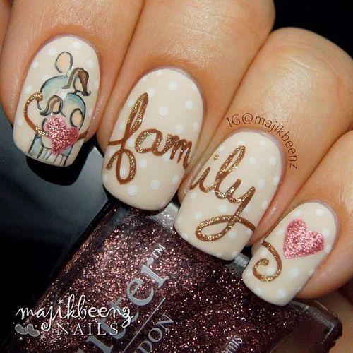 Imagen de nails, family, and heart