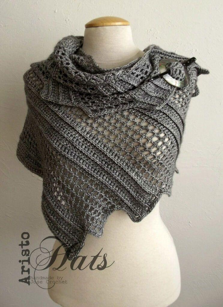 scialle_lizard_uncinetto | uncinetto | Pinterest | Crochet shawl ...