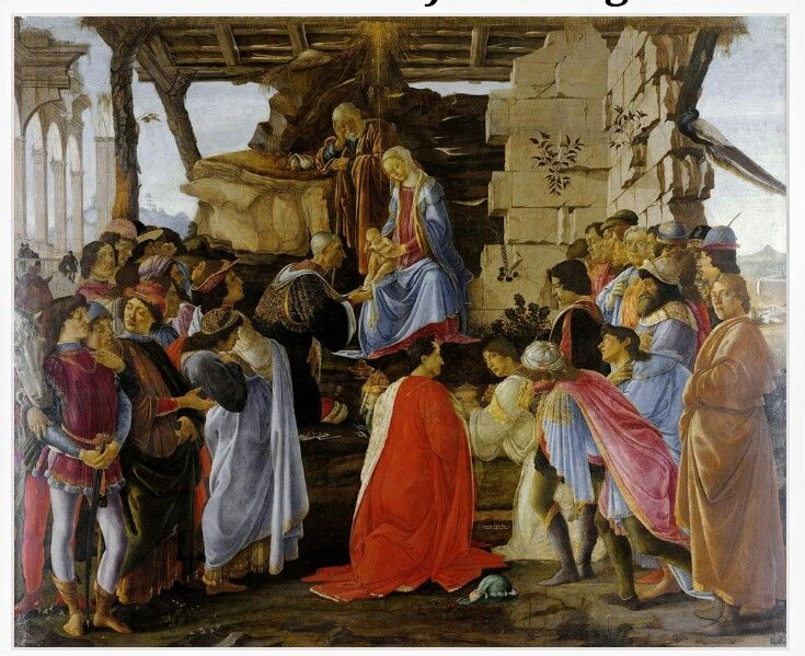 Sandro Botticelli The Adoration of the Magi Painting Picture Art Print A3 A4