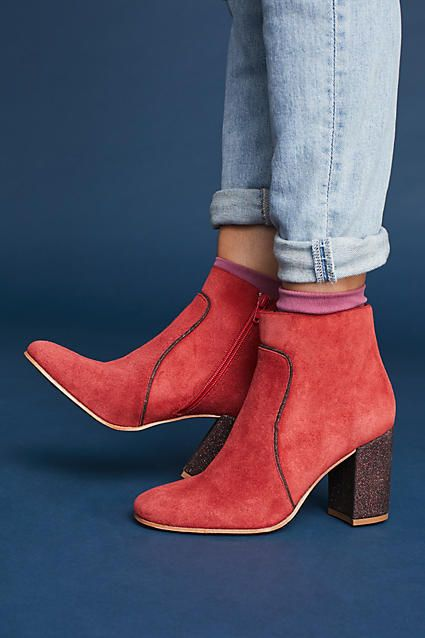 94a2d0e902d Red Booties from Anthropologie