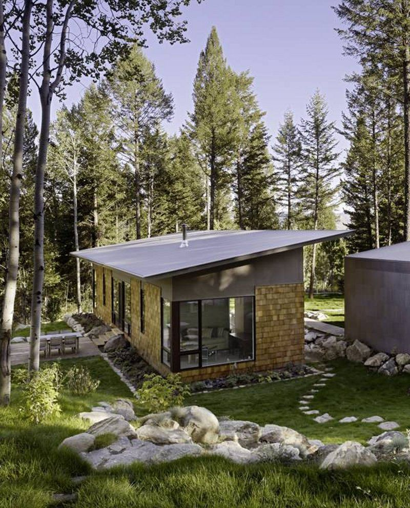 Fish creek guest house a small modern house by carney for Modern house small