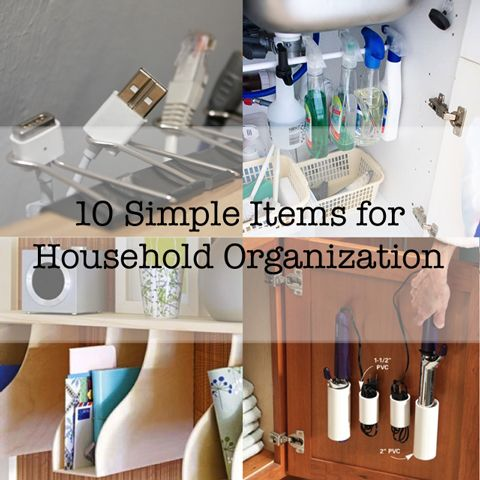 10 More Simple Household Items for Organization