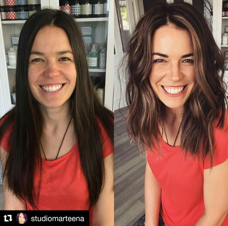 Short women vs long hair Short Hair: