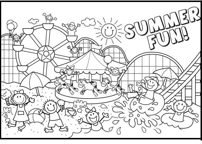 The Summer Fun Kids Coloring Pages For Kids Duy Printable Summer Coloring Pages For Kids