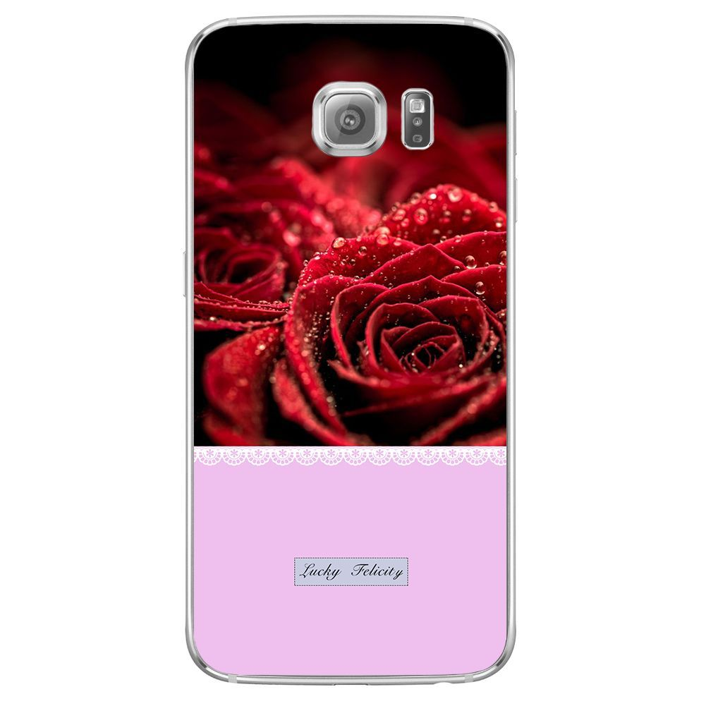 Tassel Flowers Silicone For Samsung Galaxy S3 S4 S5 S6 S7 Edge A3 A5 J1 Mini J3 J5 J7 2015 2016 2017 Gra Beautiful Red Roses Red Background Red Roses Wallpaper