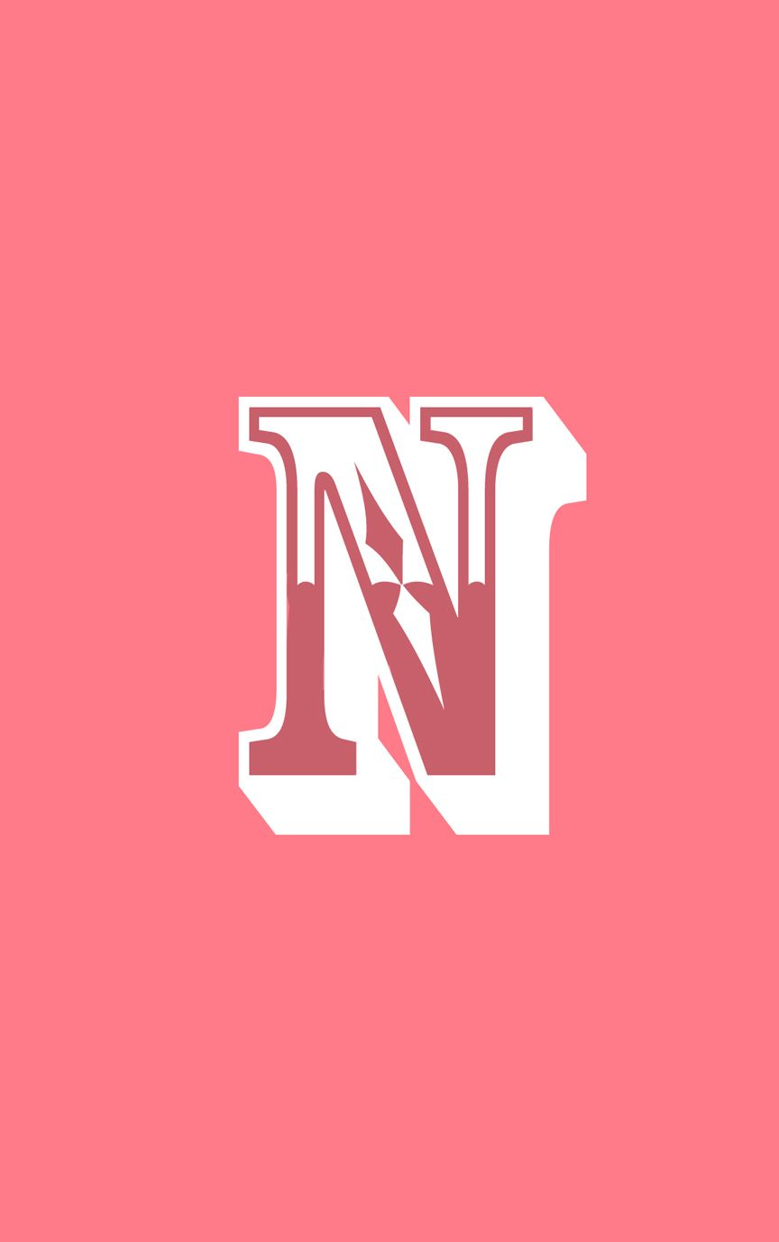 Pink Letter N from the Alphabet Collection, customise your phone case today https://printyourstuff.co.uk/collections/alphabet