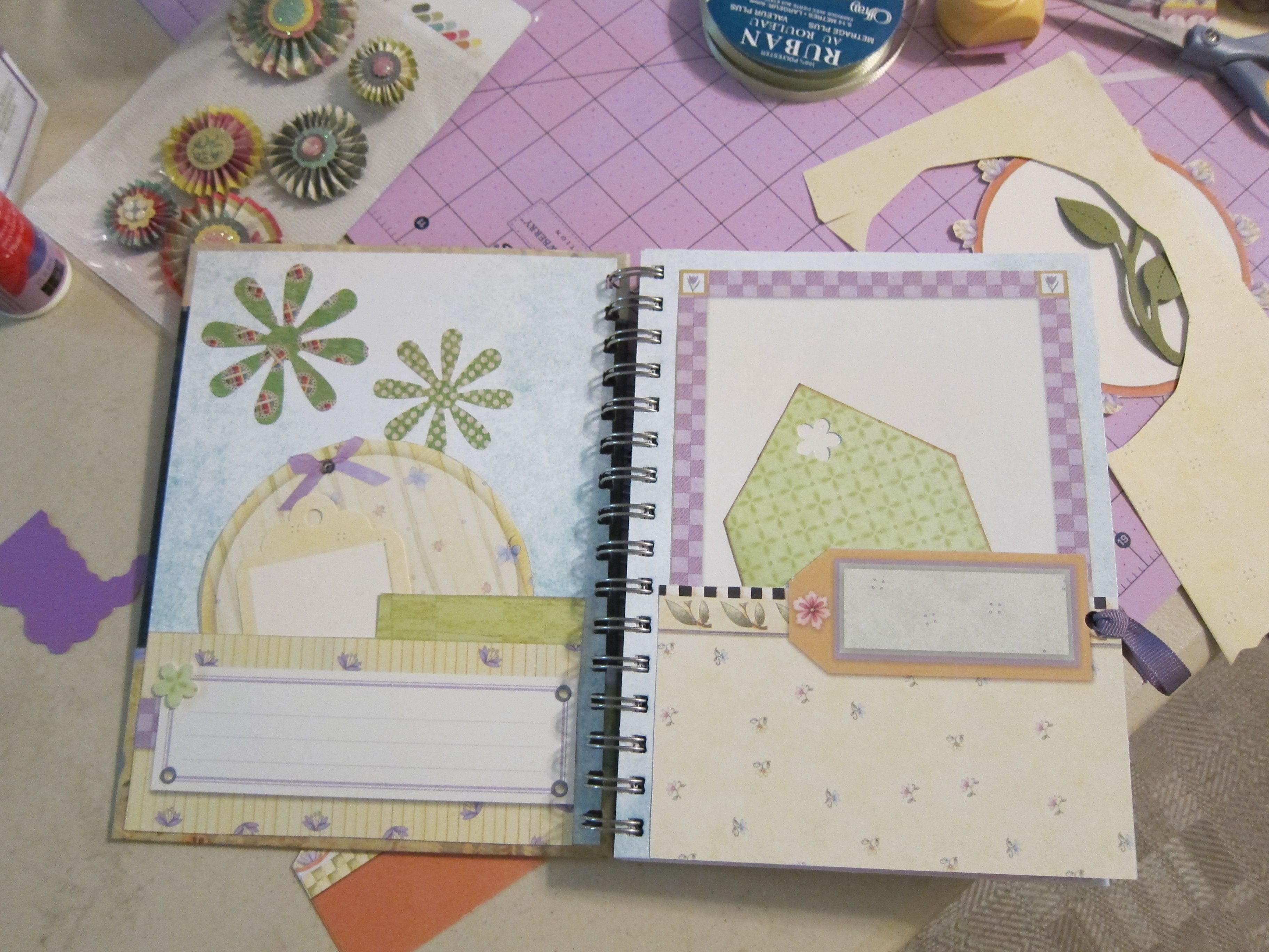 Create your own Smashbook...use your fav calendar, glue paper scraps to create pockets, embellish with ribbons, grommets, stickers...your personalized Smashbook...