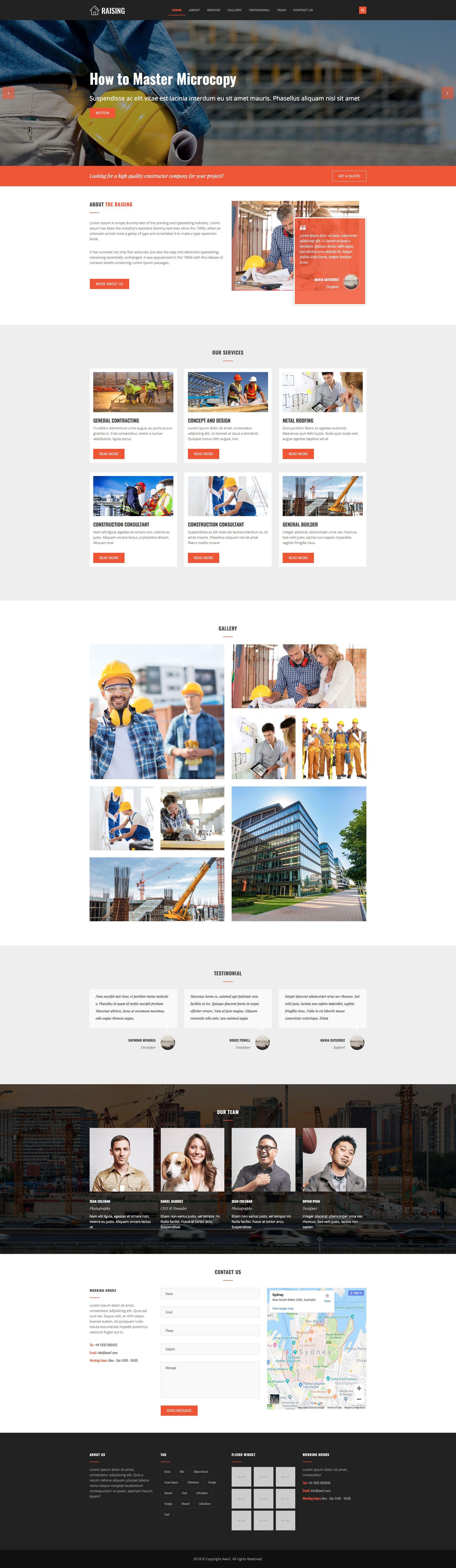 Raising Free responsive HTML5 Bootstrap Construction