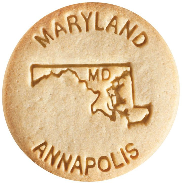 Dick & Jane Educational Snacks;  States & Capitals Edition;  State - Maryland;  Capital - Annapolis;  Abbreviation - MD