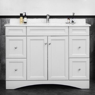 "Charlton Home Caloundra 48"" Single Bathroom Vanity Set 