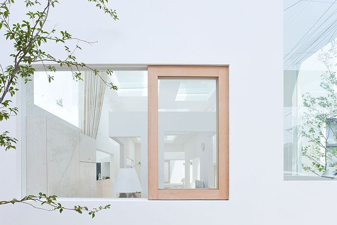 A Sliding Window at Sou Fujimoto Architects' House N in Oita, Southern Japan