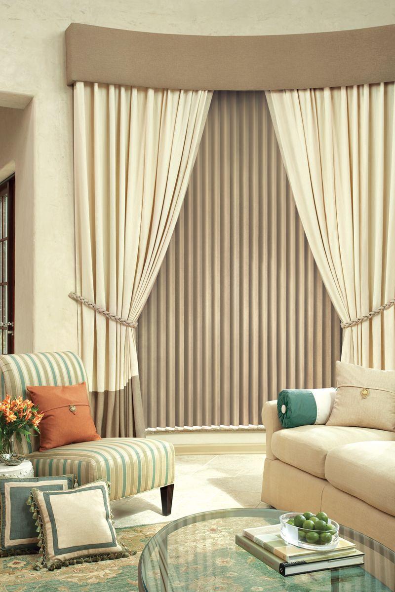 Hunter Douglas Design Styles Drapery Street Curtains With Blinds Living Room Blinds Blinds Design
