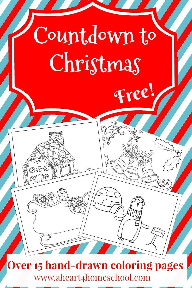 Countdown to christmas coloring pages homeschool and activities