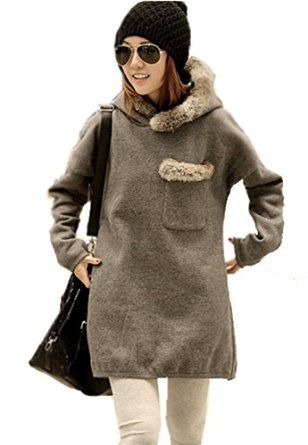 Mooncolour Women Girls New Arrival Long Thick Warm Fleece Hoodie Pullover Outwear  Mooncolour
