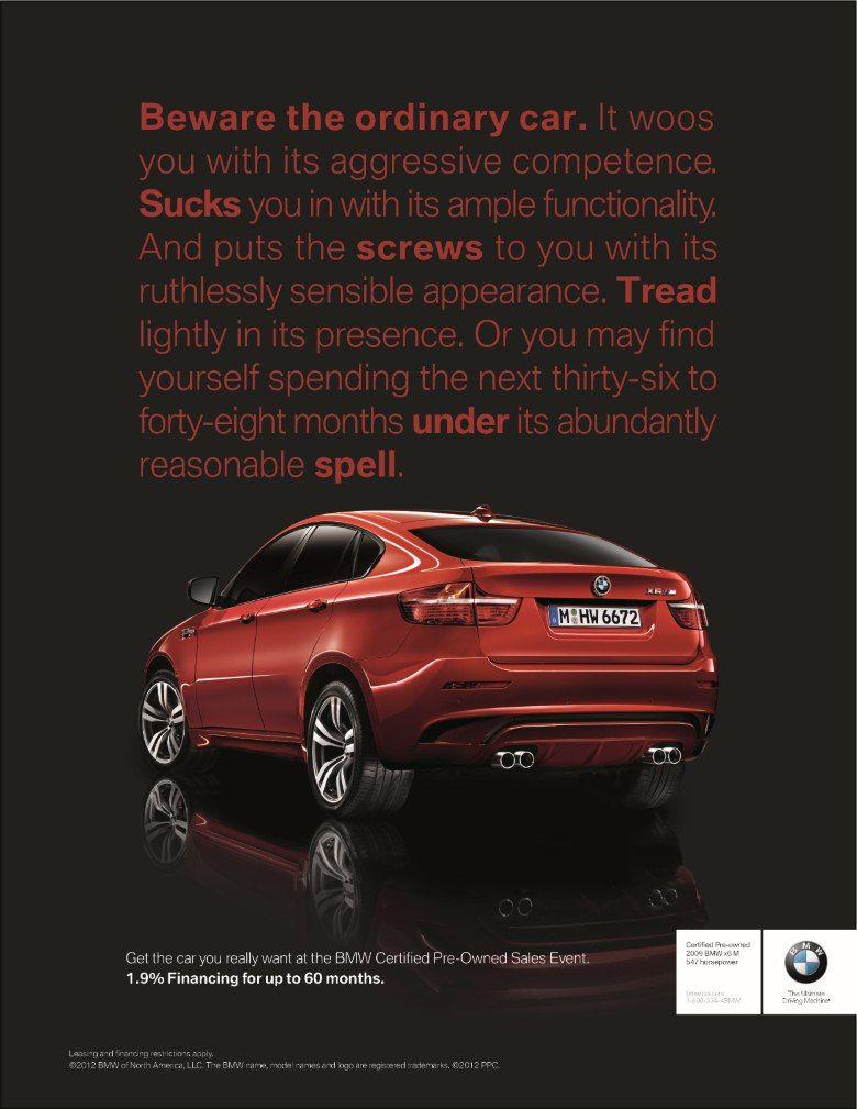 Tj Bennett Creative Director Writer Car Advertising Car Ads Print Ads