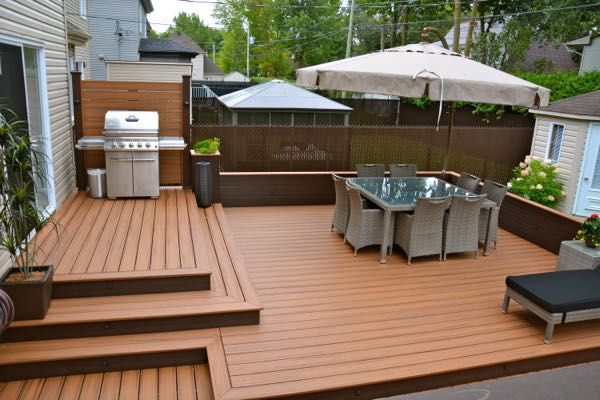 Patio plus patios niveaux paysagement ext rieur for Patio exterieur plan