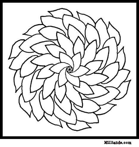 Flower Page Printable Coloring Sheets Flower Mandala Coloring Flower Coloring Pages