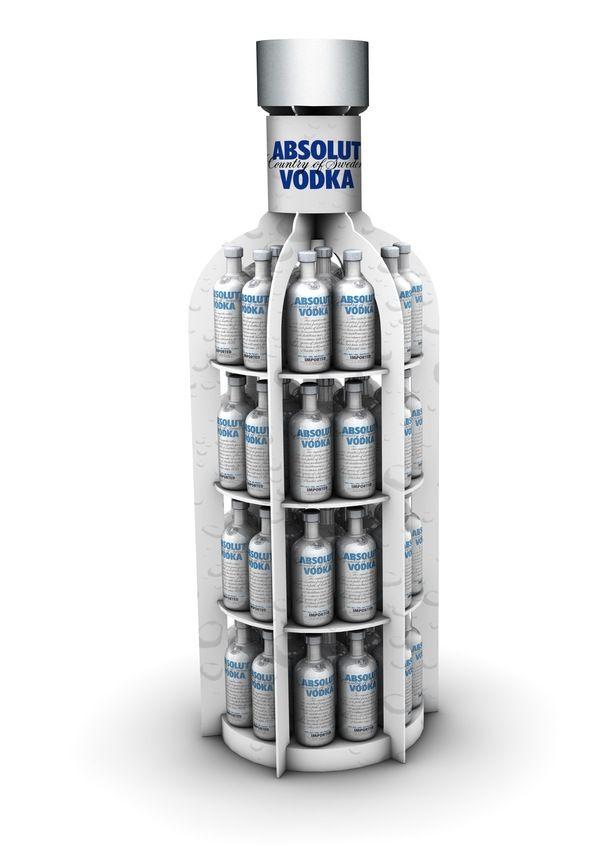 Exhibidor Botella Absolut