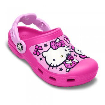 474536d8f Crocs Kids Hello Kitty Creative Clog Candy & Ribbons Neon  Magenta/Carnation, fully moulded Hello Kitty design