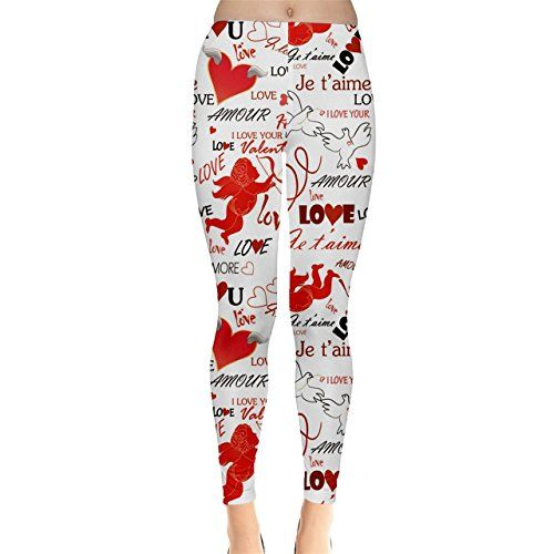Pink Valentine Wallpaper Women S Leggings Cowcow Valentine S Day