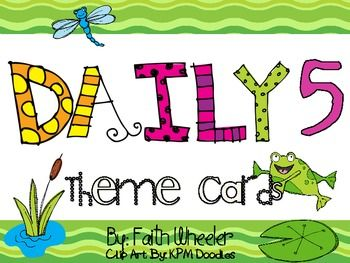 This packet was created to use with Daily 5/CAFE.  The theme is frogs.  It is aligned to the CAFE frog theme cards.