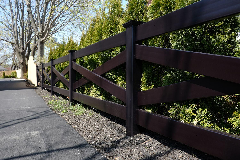 Fence Illusions Black Pvc Vinyl Crossbuck Post And Rail