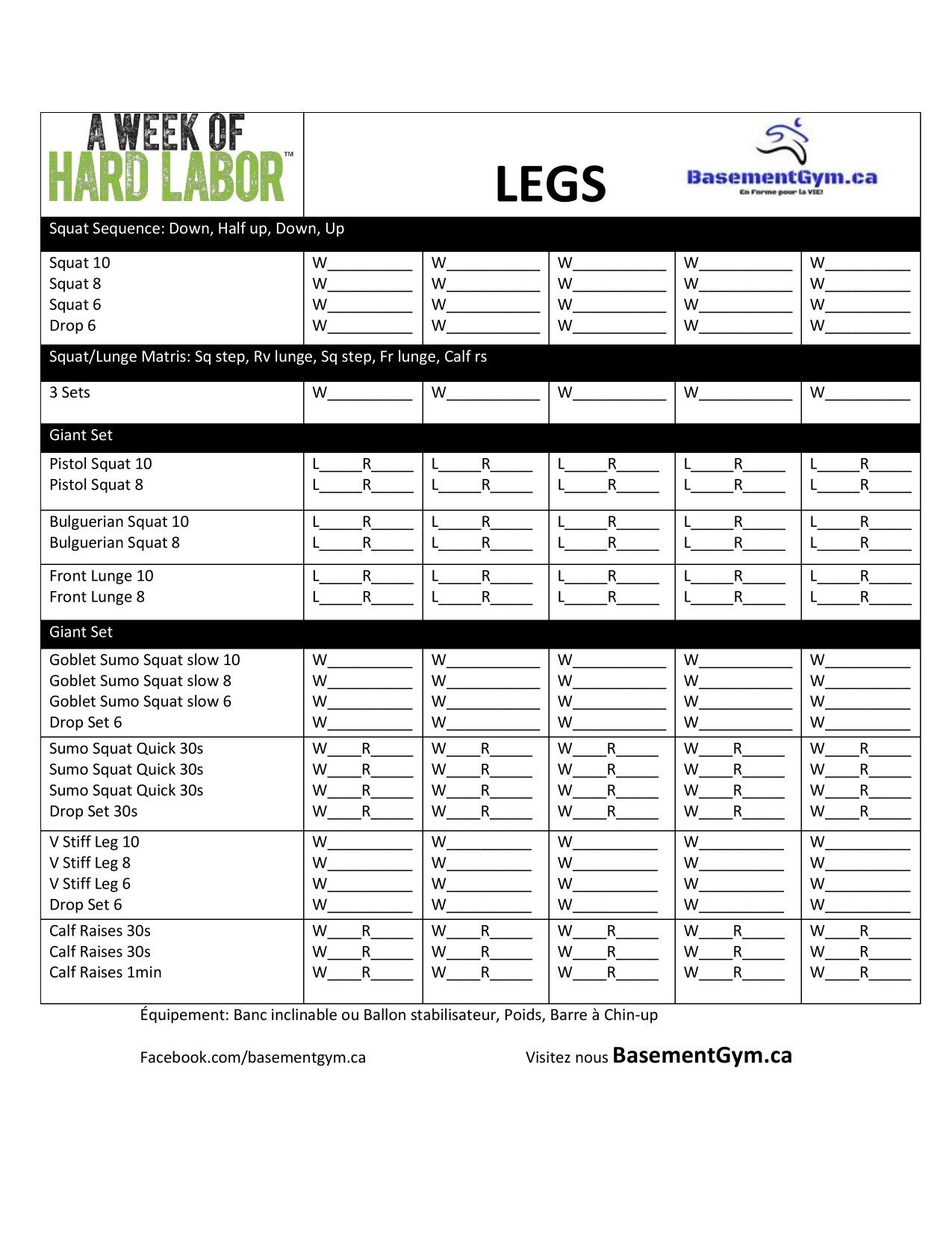 A Week Of Hard Labor Day 2 Legs