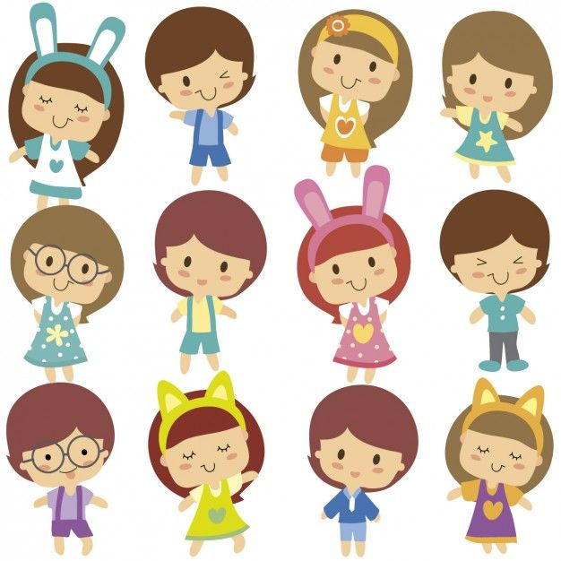 Cartoon Characters For Kids : Cute character face family google search characters