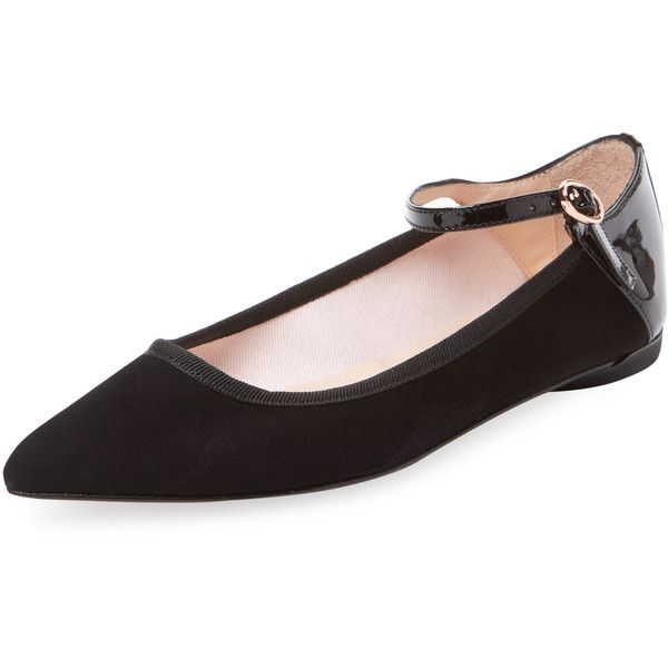 Womens Leather Ankle-Tie Ballet Flats Repetto