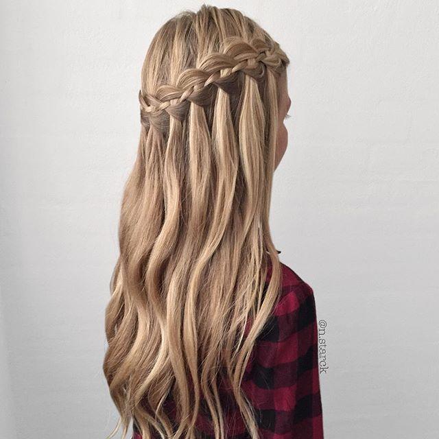 4 Strand Waterfall Braid Hair Styles Braided Hairstyles Long Hair Styles