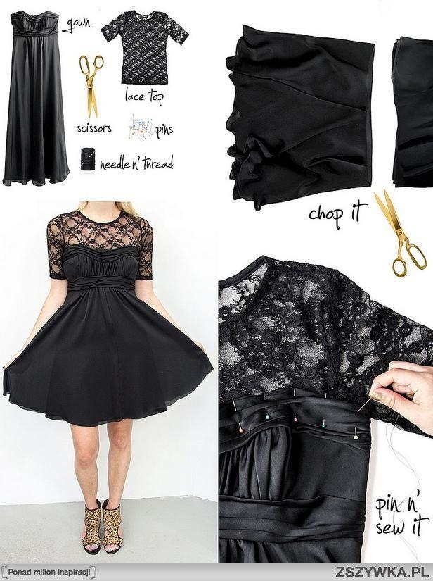 Como hacer un vestido corto negro