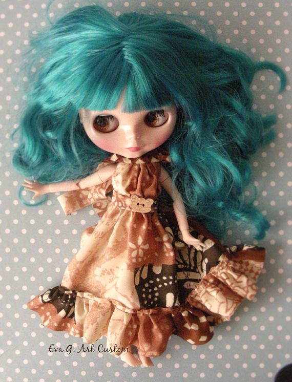 Boho sytle outfit for Blythe or similar