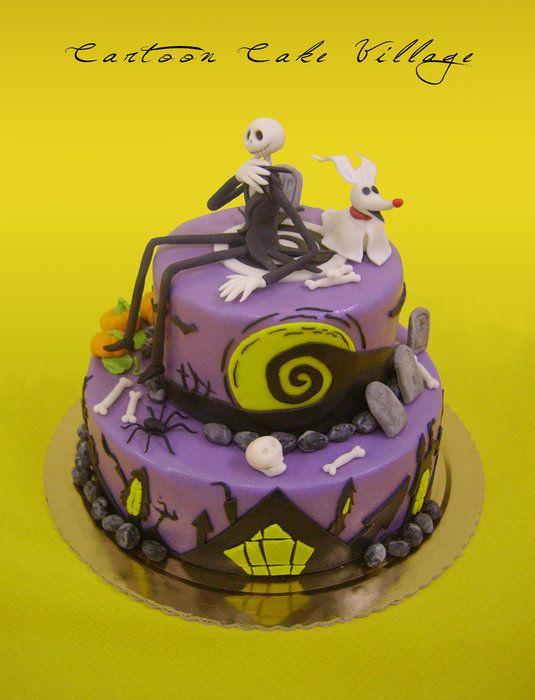 Nightmare before Christmas - tim burton - by CartoonCakeVillage - decorating halloween cakes