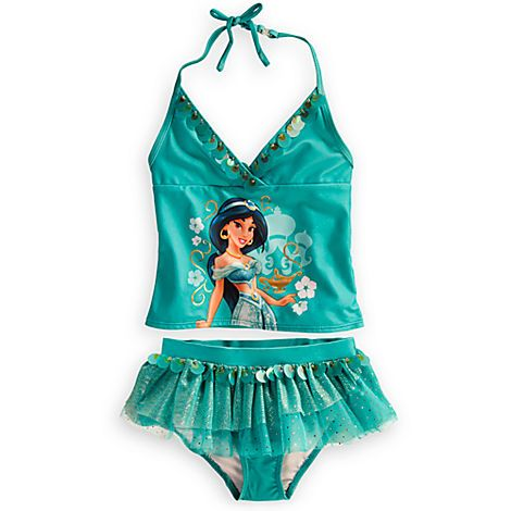 2d9ba96044 Jasmine Deluxe Swimsuit for Girls | Swimwear | Disney Store! Emily was so  happy to see this one on her bed too!