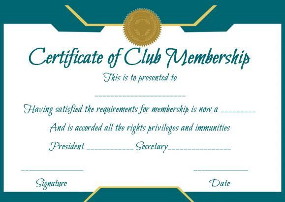 Membership Certificate Template Letter Sample Certification Format